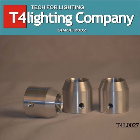 Cylindrical aluminum screw pipe